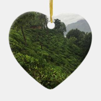 Ornamento De Cerâmica Plantação de chá
