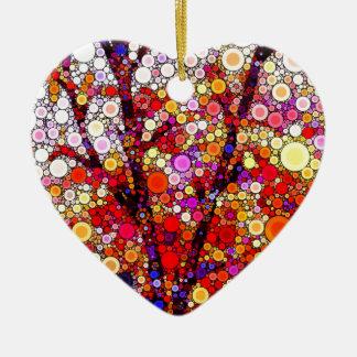 Ornamento De Cerâmica Plantando árvores de cereja