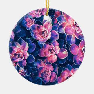 Ornamento De Cerâmica Plantas coloridas do Succulent