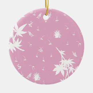 Ornamento De Cerâmica Plantas cor-de-rosa e brancas
