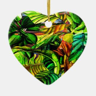 Ornamento De Cerâmica Plantas tropicais