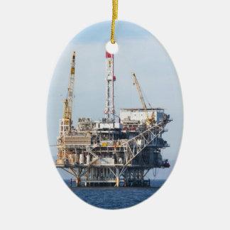 Ornamento De Cerâmica Plataforma petrolífera