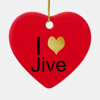 Ornamento De Cerâmica Playfully o coração elegante de I Jive