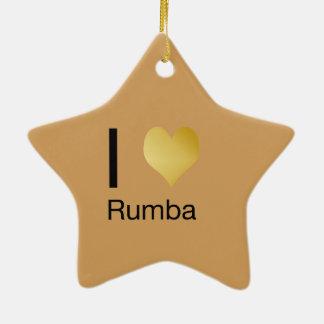 Ornamento De Cerâmica Playfully o coração elegante de I Rumba