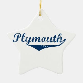 Ornamento De Cerâmica Plymouth