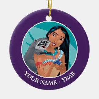 Ornamento De Cerâmica Pocahontas e Meeko adicionam seu nome