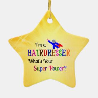 Ornamento De Cerâmica Poder super do cabeleireiro