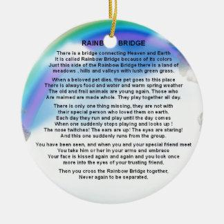 Ornamento De Cerâmica Poema da ponte do arco-íris