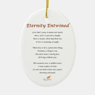 Ornamento De Cerâmica Poema entrelaçado eternidade