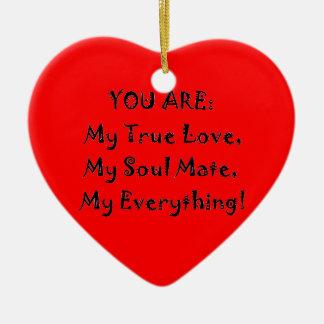 Ornamento De Cerâmica Poema verdadeiro do amor