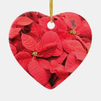 Ornamento De Cerâmica Poinsétia vermelha