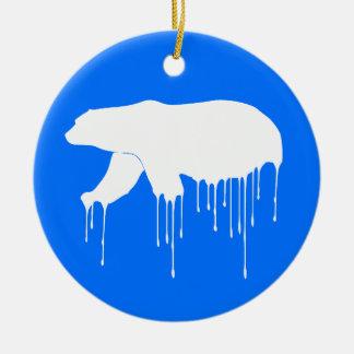 Ornamento De Cerâmica Polar derreta-se
