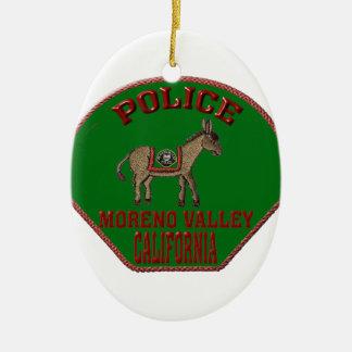 Ornamento De Cerâmica Polícia de Moreno Valley