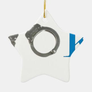 Ornamento De Cerâmica Polícia do recruta no futuro do treinamento
