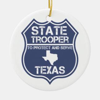 Ornamento De Cerâmica Polícia estadual de Texas a proteger e servir
