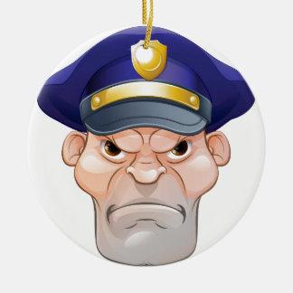 Ornamento De Cerâmica Polícia irritado médio dos desenhos animados