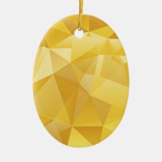 Ornamento De Cerâmica Polígono amarelo