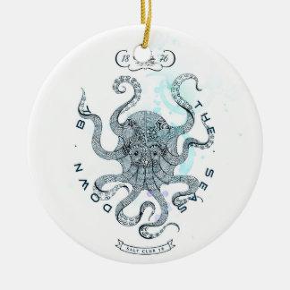 Ornamento De Cerâmica Polvo - clube 76 de sal - para baixo pelo mar