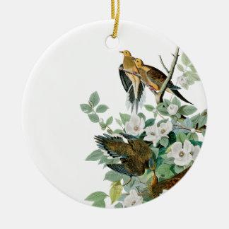 Ornamento De Cerâmica Pomba da tartaruga de Carolina, pássaros de