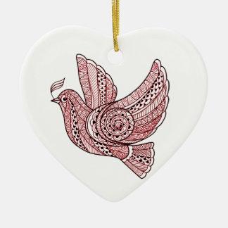 Ornamento De Cerâmica Pomba do Natal