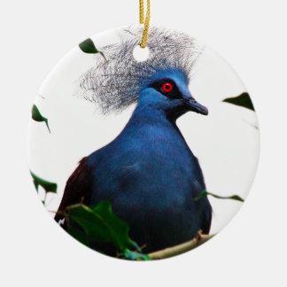 Ornamento De Cerâmica Pombo coroado
