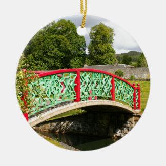 Ornamento De Cerâmica Ponte chinesa, jardins, Scotland