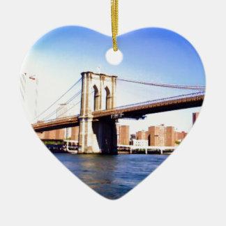 Ornamento De Cerâmica Ponte de Brooklyn