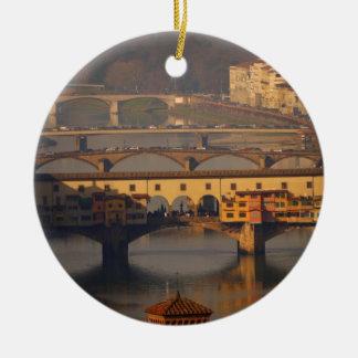 Ornamento De Cerâmica Ponte de Florença, Italia