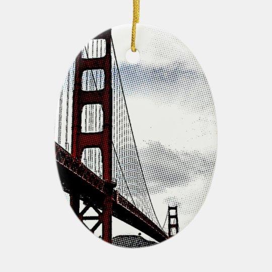 Ornamento De Cerâmica Ponte de São Franscisco