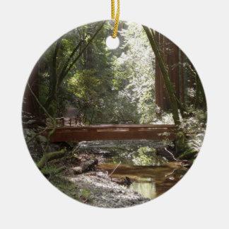 Ornamento De Cerâmica Ponte II das madeiras de Muir