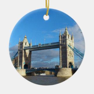 Ornamento De Cerâmica Ponte Londres da Ornamento-Torre do círculo