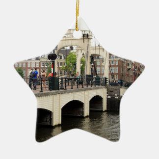 Ornamento De Cerâmica Ponte magro, Amsterdão, Holland