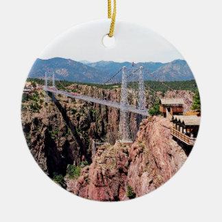 Ornamento De Cerâmica Ponte real do desfiladeiro, o mais alto nos EUA