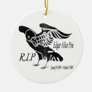 Ornamento De Cerâmica Ponto de entrada de Edgar Alan o corvo
