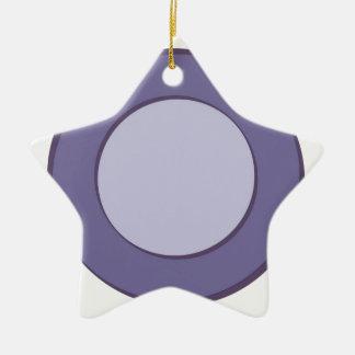 Ornamento De Cerâmica Ponto do Lilac