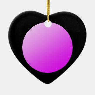 Ornamento De Cerâmica Pontos cor-de-rosa no preto