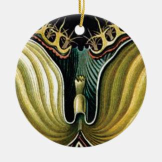 Ornamento De Cerâmica pontos no coração da flor