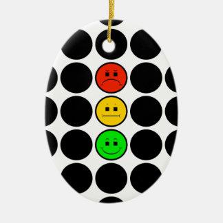 Ornamento De Cerâmica Pontos pretos de w do sinal de trânsito