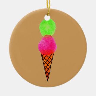 Ornamento De Cerâmica Pop art do sorvete