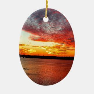 Ornamento De Cerâmica por do sol