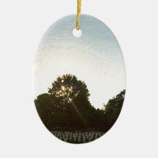 Ornamento De Cerâmica Por do sol #1