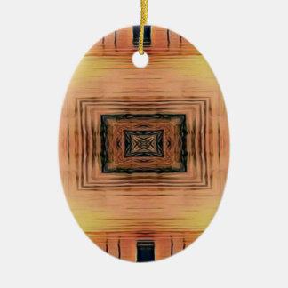 Ornamento De Cerâmica Por do sol bonito do lago mirror Image