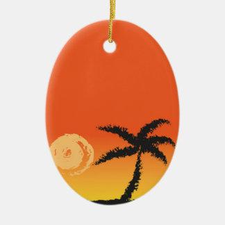 Ornamento De Cerâmica Por do sol da ilha