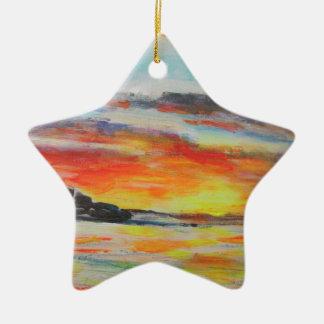 Ornamento De Cerâmica Por do sol da praia de Bondi