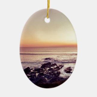 Ornamento De Cerâmica Por do sol da praia de Fistral