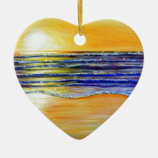 Ornamento De Cerâmica Por do sol da véspera de Ano Novo