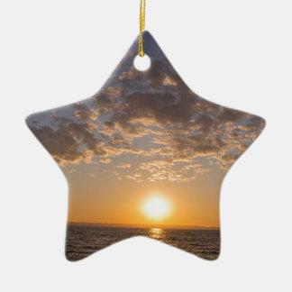 Ornamento De Cerâmica Por do sol de Baikal