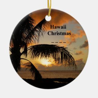 Ornamento De Cerâmica Por do sol de Havaí