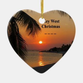 Ornamento De Cerâmica Por do sol de Key West