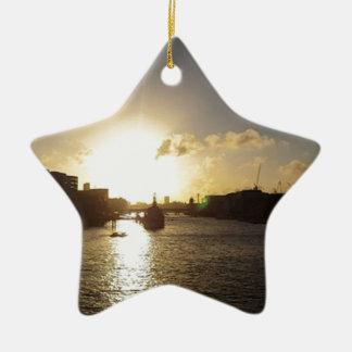 Ornamento De Cerâmica Por do sol de Londres